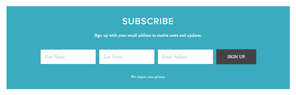 Collect subscribers with forms