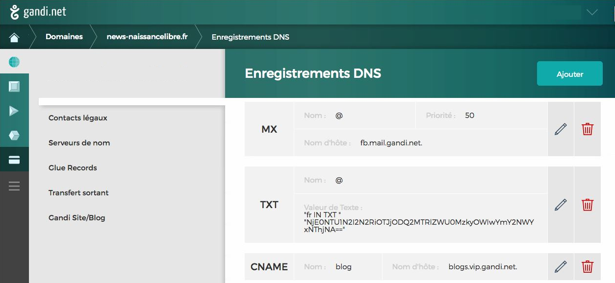 Enregistrements DNS